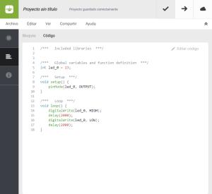 BitBloq - Vista de código