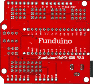 Funduino Nano IO Expansion (Trasera)