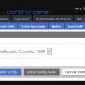 Tipo de conexión: DHCP